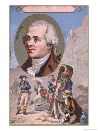 Promotional Card Depicting Gaspard Monge