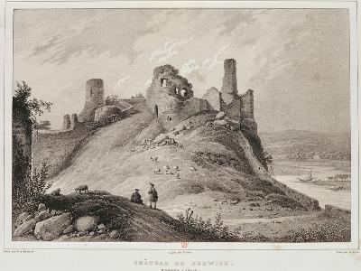 View of Berwick Castle, Berwick-Upon-Tweed, Engraved by Villain