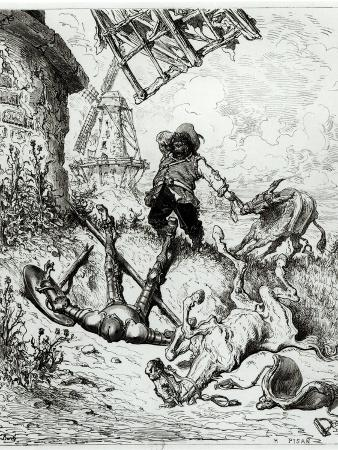 Don Quixote and the Windmills, from Don Quixote de La Mancha by Miguel Cervantes
