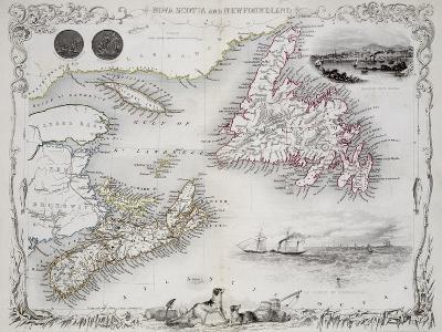 Nova Scotia and Newfoundland, Series of World Maps, c.1850