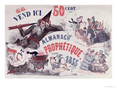 Cover of a Prophetic Almanac Depicting Nostradamus, 1855