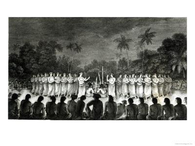 Native Inhabitants, Friendly Islands, Dancing in Hapee, Third Voyage Atlas of Captain James Cook