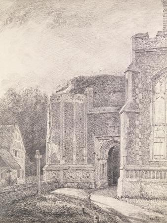 South Archway of the Ruined Tower of East Bergholt Church