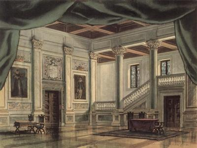 Set Design For Act III of the Opera Rigoletto by Guiseppe Verdi