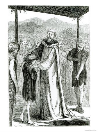 St. Columba Blesses a Wild Boy, Three Wonder-Working Saints of Ireland