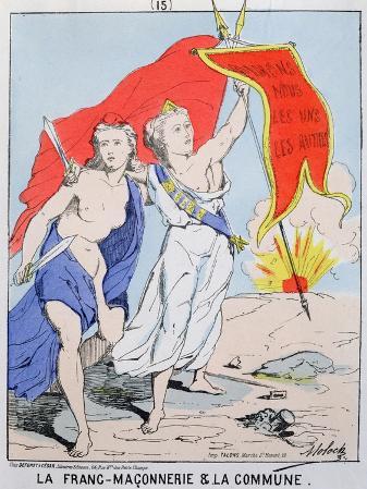 Allegory of Freemasonry and the Paris Commune, 1871