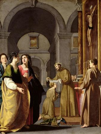 St. Clare Receiving the Veil from St. Francis of Assisi