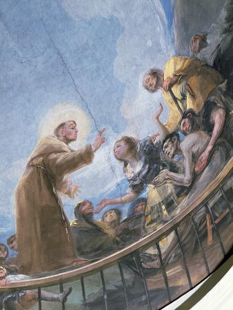 St. Anthony Preaching, Detail from the Miracle of St. Anthony of Padua, from the Cupola, 1798