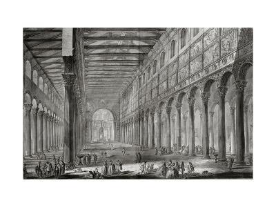 Basilica of San Paulo Fuori Le Mura, Rome, from Le Antichita Romane de G.B. Piranesi