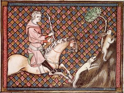 Hunting Hares, from Ovide Moralise Written by Chretien Legouais