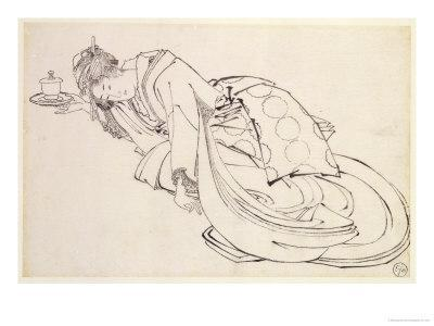 Courtesan Offering a Cup, 18th-19th Century