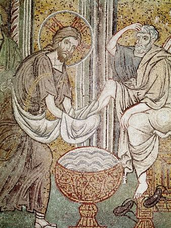Jesus and St. Peter, Detail from Jesus Washing the Feet of the Apostle