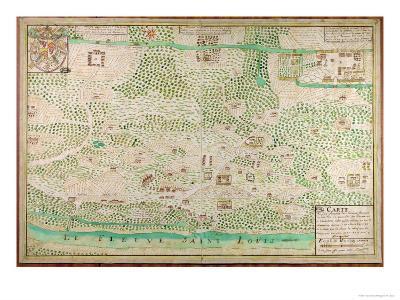 Map of Fort Rosalie Des Natchez, Louisiana