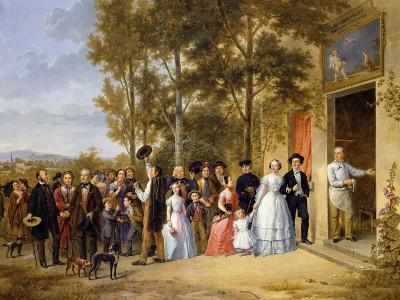 Wedding at the Coeur Volant, Louveciennes, c.1850
