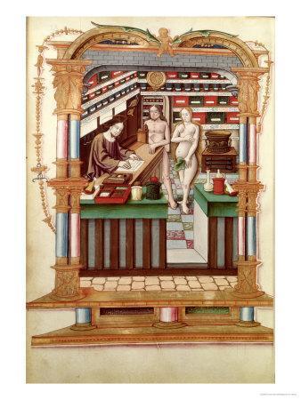 Christ the Pharmacist with Adam and Eve, Chants Royaux Sur La Conception Couronnee du Puy de Rouen