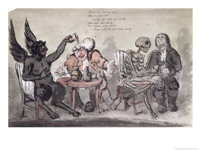 The Doctor and His Friends, Engraved by Issac Cruikshank