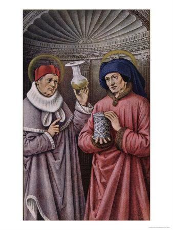 St. Cosmas and St. Damian, Patron Saints of Physicians and Apothecaries, Book of Hours