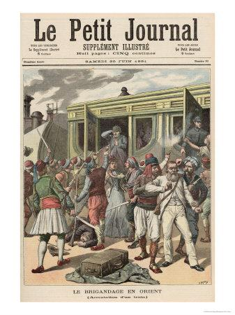 Bandits in the Orient: Arrests on a Train, from Le Petit Journal, 20th June 1891
