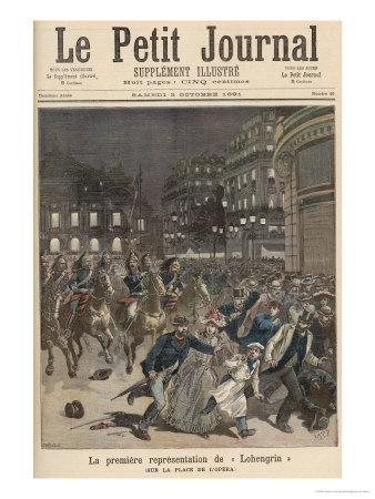 The First Performance of Lohengrin, from Le Petit Journal, 3rd October 1891