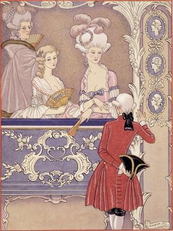 Women in a Theater Box, Illustration from Les Liaisons Dangereuses by Pierre Choderlos de Laclos