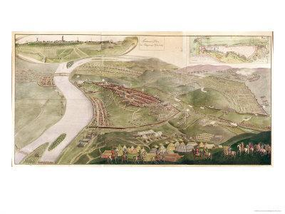 Map Illustrating the Capture of Buda, 1686