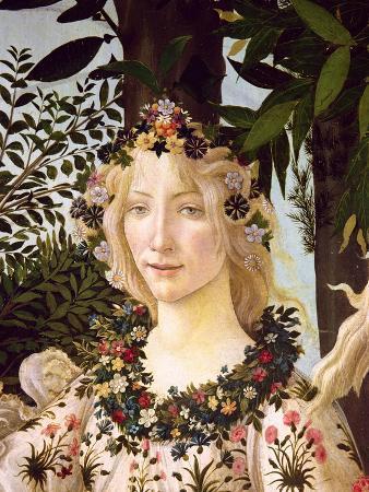 Flora, Detail from the Primavera, c.1478