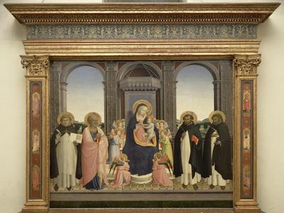 Virgin and Child Enthroned, Angels, St. Thomas, St. Barnabas, St. Dominic and St. Peter Martyr