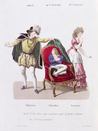 Count Discovers Cherubin, The Marriage of Figaro by Pierre Augustin Caron de Beamarchais