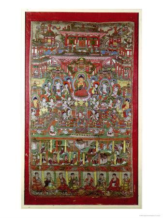 Paradise of Amitabha, from Dunhuang, Gansu Province