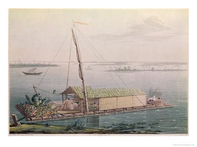 Raft, Guayaquil River, Voyages Aux Regions Equinoxiales du Nouveau Continent