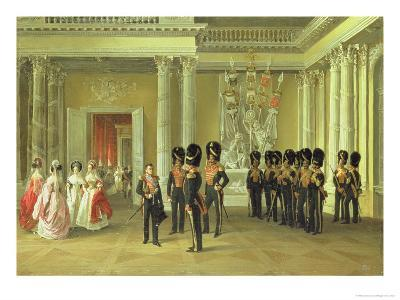 The Heraldic Hall in the Winter Palace, St Petersburg, 1838