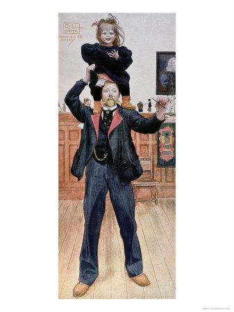 Self Portrait of the Artist with His Daughter, Brita, 1899
