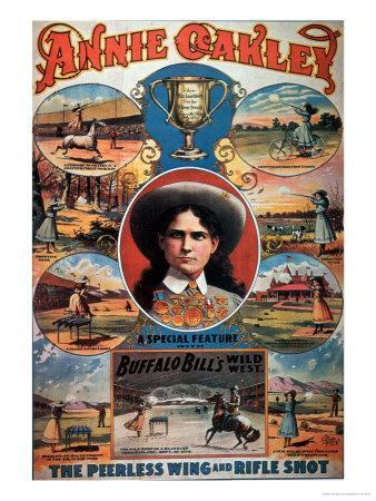 Poster Advertising Annie Oakley Featuring in Buffalo Bill's Wild West Show