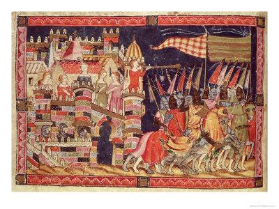 Trojans Leaving For Battle, from the Codex Benito Santa Mora
