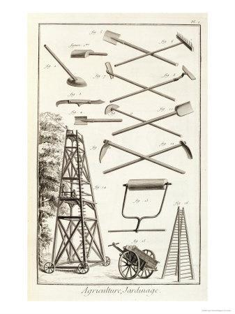 Gardening Tools and a Mobile Pruning Platform, Encyclopedie Des Sciences et Metiers D.Diderot