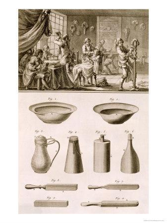 Barbershop and Barber Tools, from the Encyclopedie Des Sciences et Metiers by Denis Diderot
