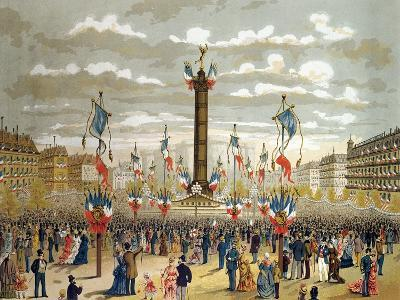Celebration of the Quatorze Juillet at the Place de La Bastille, Paris, 14th July 1880