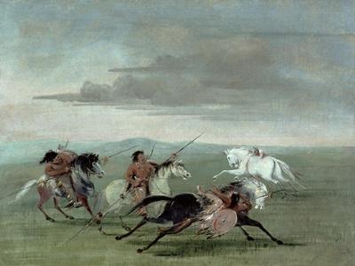 Comanche Feats of Martial Horsemanship, 1834