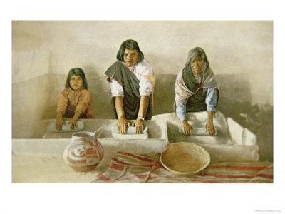 Women Grinding Corn, Pueblo of Laguna, c.1905