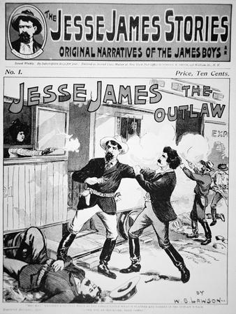 Front Cover of The Jesse James Stories Printed 1898