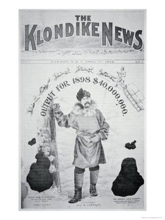 Front Cover of The Klondike News, 1st April 1898