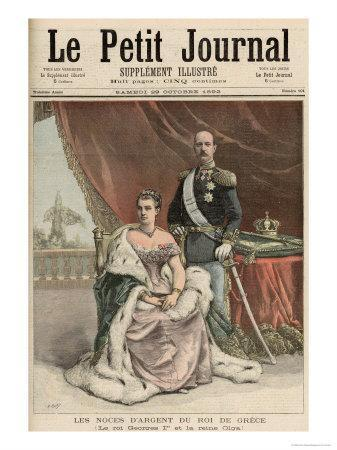 The Silver Wedding Anniversary of the King of Greece, from Le Petit Journal, 29th October 1892