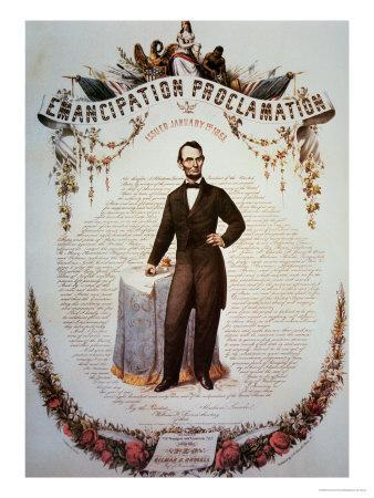 Souvenir Print of the Emancipation Proclamation, Issued 1st January 1863