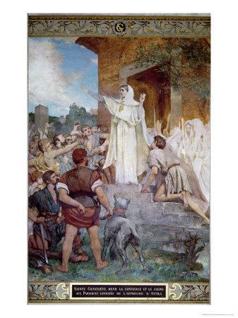 St. Genevieve Calming the Parisians on the Approach of Attila
