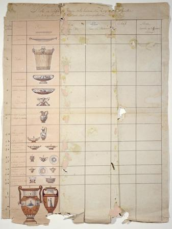 Designs For the Rambouillet Dairy Service, Sevres Workshop