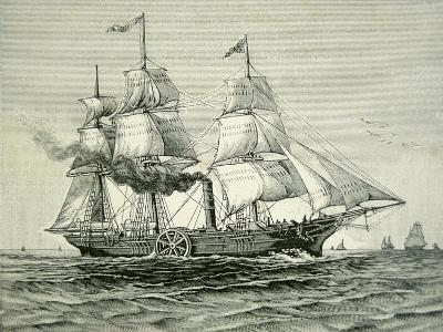 Savannah, the First Steamship to Cross the Atlantic, 1819
