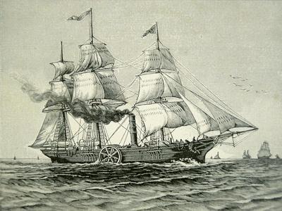 Savannah, the First Steamship to Cross the Atlantic, 1819