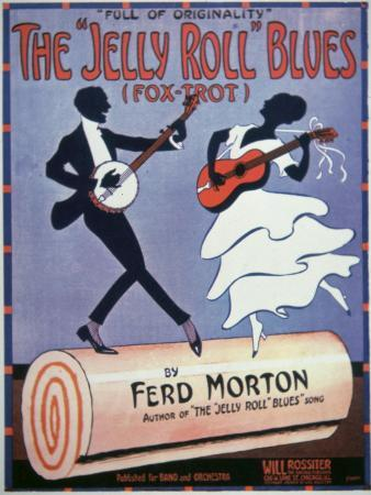 Front Cover For The Jelly Roll Blues, by Jelly Roll Morton