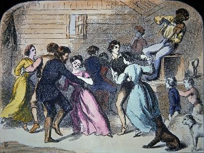 Fiddler Plays For a Barn Dance in Kentucky, 1856
