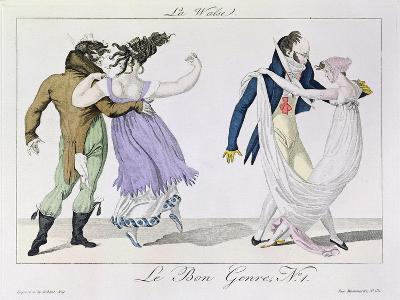 Couples Dancing the Waltz, from Le Bon Genre, c.1810